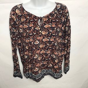 Lucky Brand Long Sleeve Top Size Small